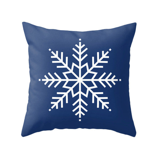 Snowflakes. Blue Christmas pillow - Latte Design  - 2