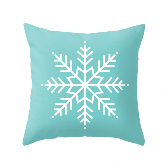 Merry Christmas. Turquoise Christmas pillow - Latte Design  - 2