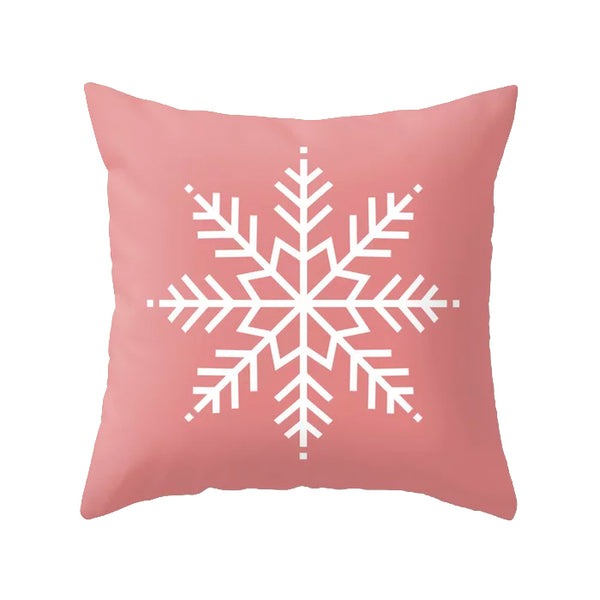 Let it snow. Pink Christmas cushion