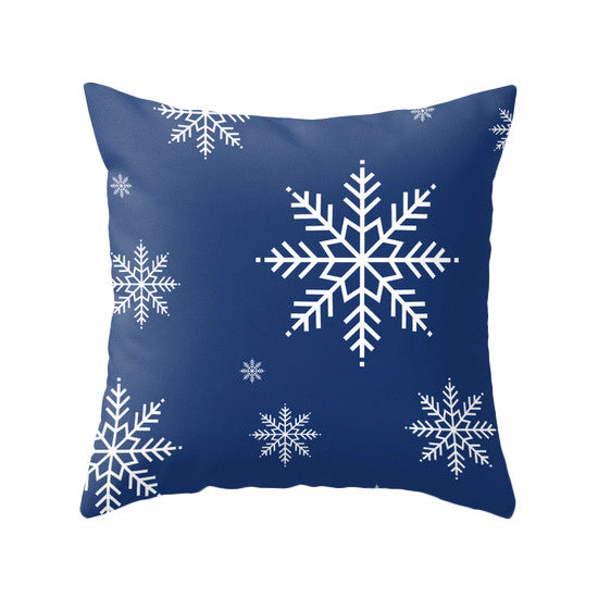 Snowflakes. Blue Christmas pillow - Latte Design  - 1
