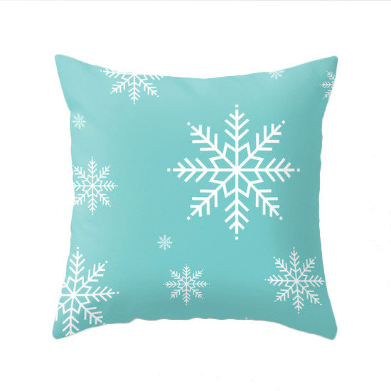 Merry Christmas. Turquoise Christmas pillow - Latte Design  - 3