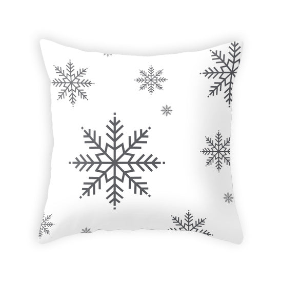 Snowflake. White Christmas cushion