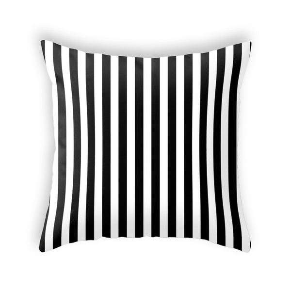 Stripes cushion. Black and black stripes Halloween cushion