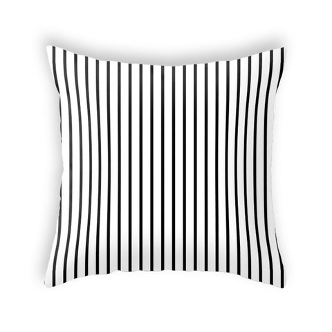 Black and white stripes cushion
