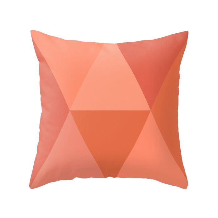 Terracotta orange geometric cushion