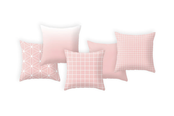 Rose quartz ombre pillow. Pantone color of the year - Latte Design  - 8
