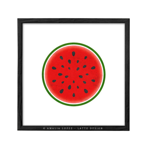 Watermelon print. Red kitchen print