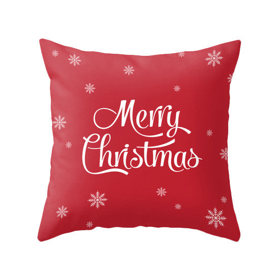 Merry Christmas. Red Christmas pillow Snow flakepillow Red Christmas decor Xmas pillow Christmas decoration Red Christmas cushion Red Xmas pillow red pillow - Latte Design  - 1