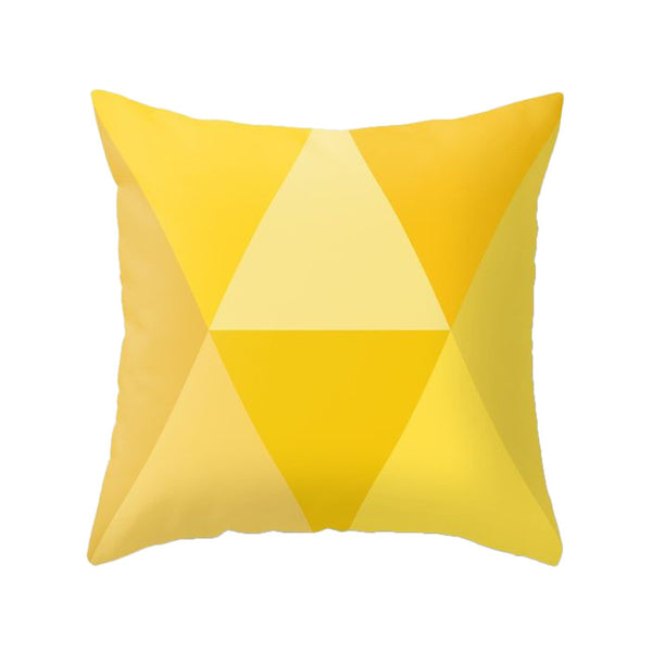 Yellow orange geometric pillow