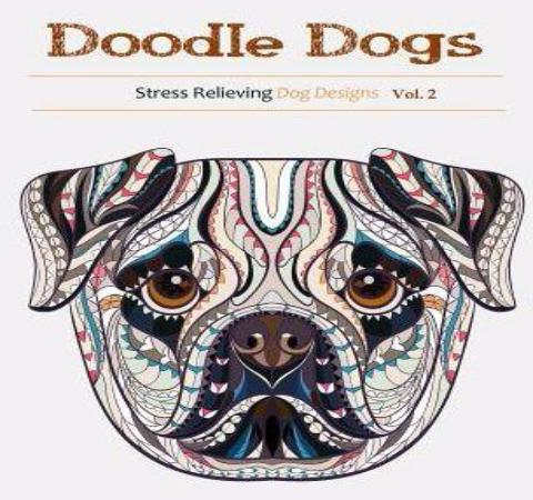PEACE LOVE + STRESS FREE ADULT DOG COLORING