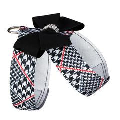 CLASSIC GLEN HOUNDSTOOTH BLACK NOUVEAU BOW TINKIE HARNESS