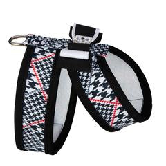 GLEN HOUNDSTOOTH TINKIE HARNESS W/REALLY BIG BOW + TRIM