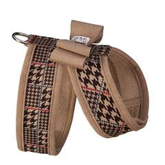 CHOCOLATE GLEN HOUNDSTOOTH BIG BOW CHOCOLATE TINKINE HARNESS W/TRIM