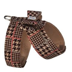 CHOCOLATE GLEN HOUNDSTOOTH BIG BOW TINKIE HARNESS