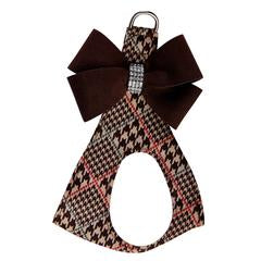 CHOCOLATE GLEN HOUNDSTOOTH W/ CHOCOLATE  NOUVEAU BOW STEP IN HARNESS