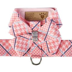 PEACHES N' CREAM GLEN HOUNDSTOOTH NOUVEAU BOW TINKIE HARNESS