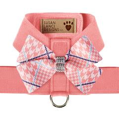 PEACHES N' CREAM GLEN HOUNDSTOOTH NOUVEAU BOW + PEACHES N' CREAM TINKIE HARNESS