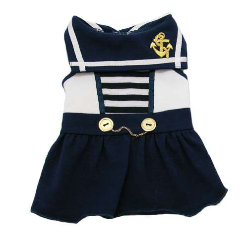 SAIL AWAY SAILOR DOG DRESS, Dress - Bones Bizzness