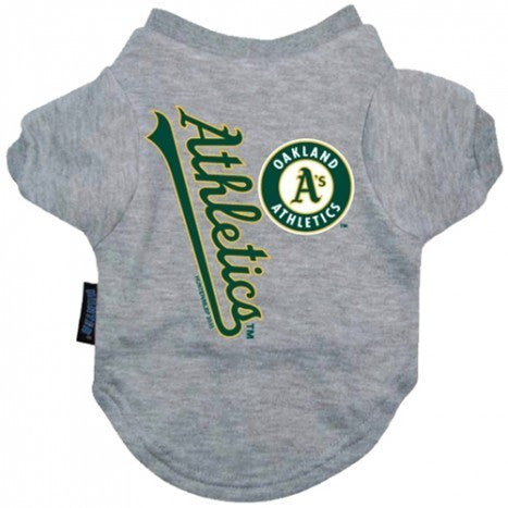 OAKLAND ATHLETICS DOG TEE SHIRT GREY, MLB - Bones Bizzness