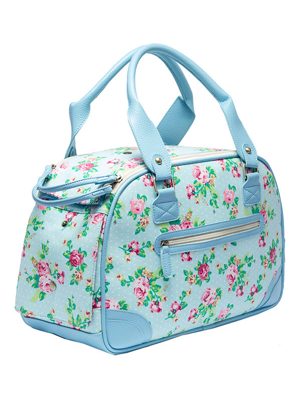 BLUE SUMMER ROSE DOG CARRIER, Carriers - Bones Bizzness