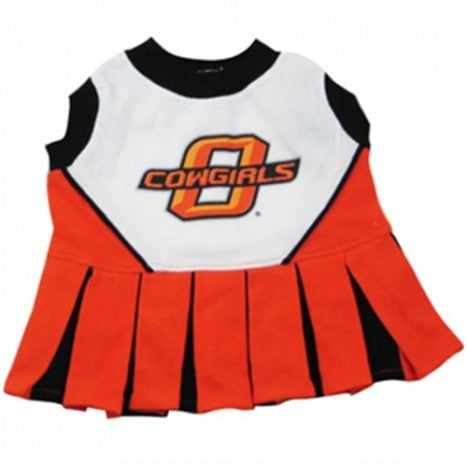 OKLAHOMA STATE CHEERLEADER DOG DRESS, NCAA - Bones Bizzness