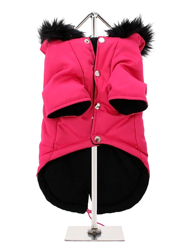 MOD FISHTAIL PARKA HOT PINK DOG COAT