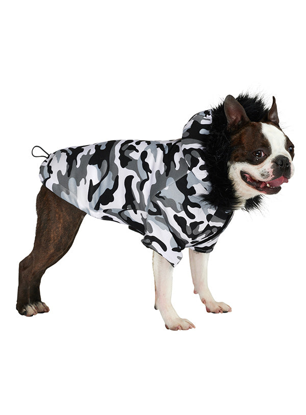 URBAN CAMOUFLAGE FISHTAIL PARKA DOG COAT
