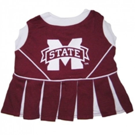 MISSISSIPPI STATE CHEERLEADER DOG DRESS, NCAA - Bones Bizzness