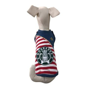 DOG BARKS BORDER TANK - RED