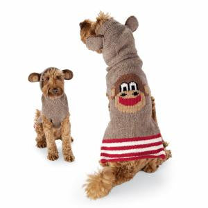 MONKEY & EARS HOODIE DOG SWEATER - Bones Bizzness