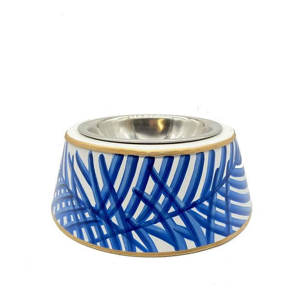 BLUE PAGODA DOG BOWL