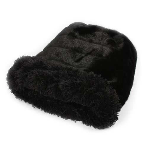 CUDDLE CUP DOG BED - BLACK SHAG, Beds - Bones Bizzness
