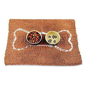 SOGGY DOGGY DOG DOORMAT CARMEL W/ OATMEAL BONE, Rugs - Bones Bizzness