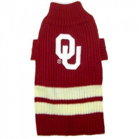 OKLAHOMA SOONERS DOG SWEATER, NCAA - Bones Bizzness