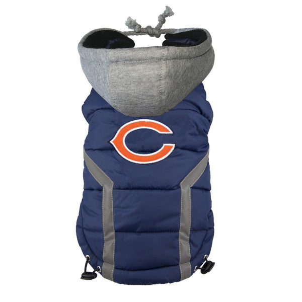 CHICAGO BEARS NFL DOG PUFFER VEST, NFL COATS - Bones Bizzness