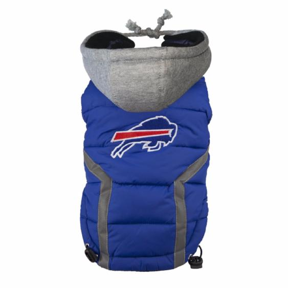 BUFFALO BILLS NFL DOG PUFFER VEST, NFL COATS - Bones Bizzness