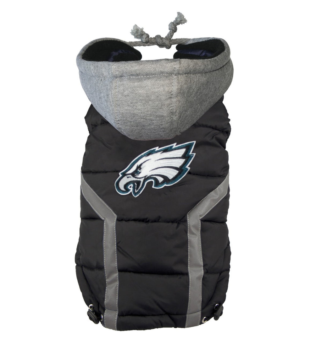 PHILADELPHIA EAGLES NFL DOG PUFFER VEST, NFL COATS - Bones Bizzness