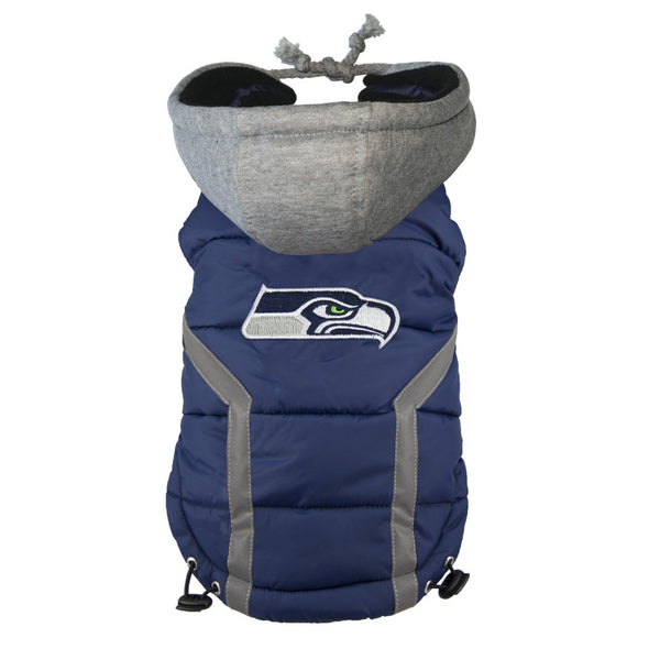 SEATTLE SEAHAWKS NFL DOG PUFFER VEST, NFL COATS - Bones Bizzness