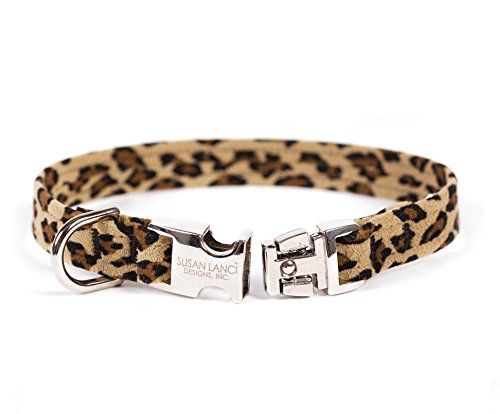 PERFECT FIT ULTRASUEDE DOG COLLAR BY SUSAN LANCI - CHEETAH, Collars - Bones Bizzness