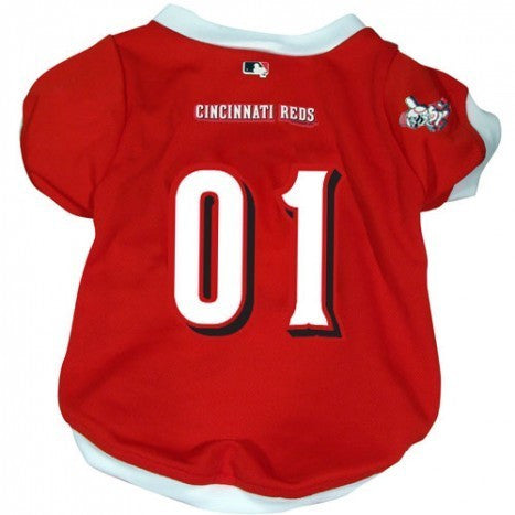 CINCINNATI REDS DOG JERSEY WHITE TRIM, MLB - Bones Bizzness