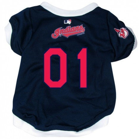 CLEVELAND INDIANS DOG JERSEY WITH TRIM, MLB - Bones Bizzness