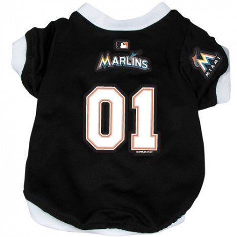 MIAMI MARLINS DOG JERSEY WITH TRIM, MLB - Bones Bizzness