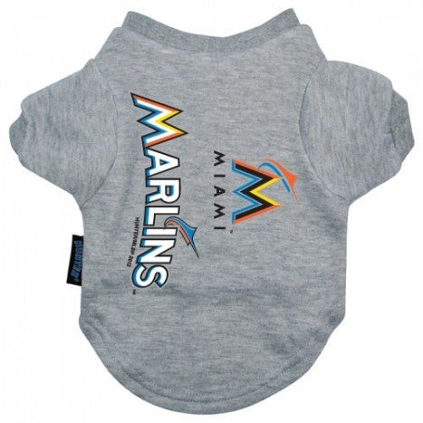 MIAMI MARLINS DOG TEE SHIRT, MLB - Bones Bizzness