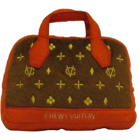 CHEWY VUITON POSH PURSE (RED TRIM) DOG TOY, Toys - Bones Bizzness