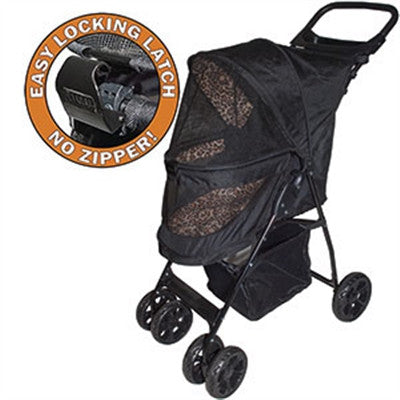 HAPPY TRAILS NO ZIP LITE DOG STROLLER JAGUAR, STROLLERS - Bones Bizzness