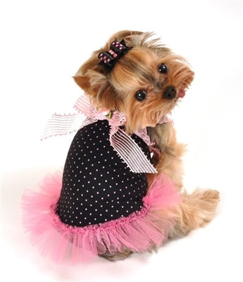 PINK BOW TULLE DOG DRESS