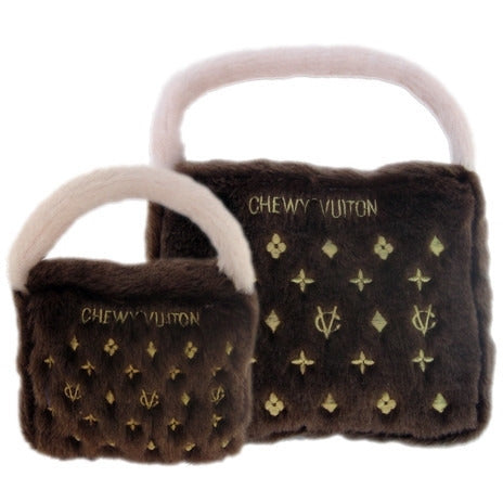 CHEWY VUITON PURSE DOG TOY, Toys - Bones Bizzness