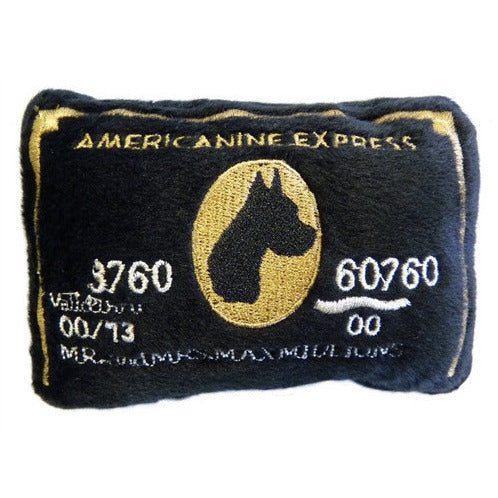AMERICANINE EXPRESS BLACK CARD DOG TOY, Toys - Bones Bizzness
