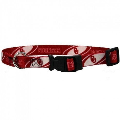 OKLAHOMA SOONERS DOG COLLAR, NCAA - Bones Bizzness