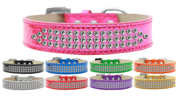 THREE ROW ICE CREAM CRYSTAL CLEAR DOG COLLAR (9 COLORS), Collars - Bones Bizzness